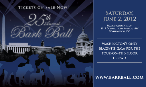 Bark Ball 2012 e-vite graphic