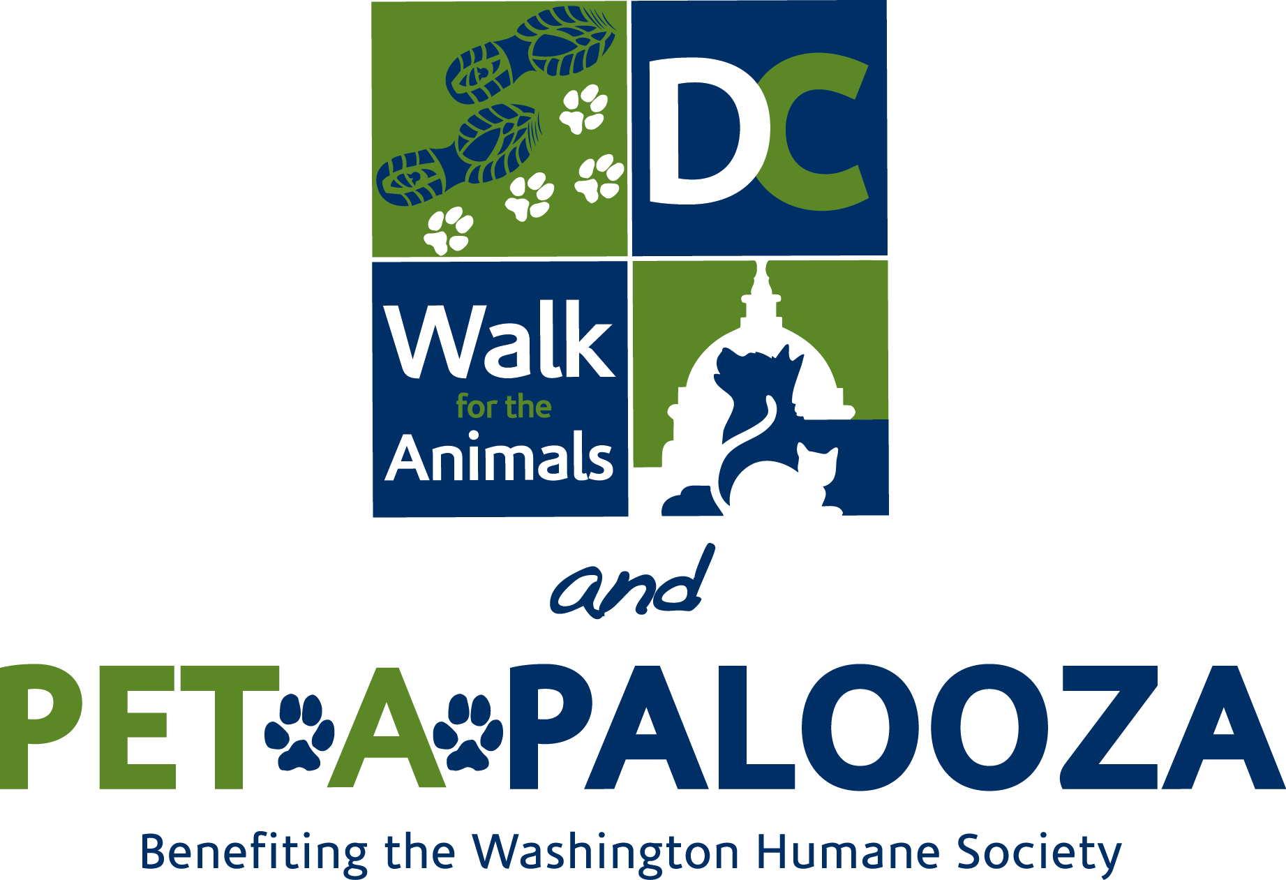 DC Walk and PetAPalooza logo
